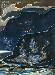 Big Sur Set #6, 1972, California watercolor art by Phil Dike. HD giclee art prints for sale at CaliforniaWatercolor.com - original California paintings, & premium giclee prints for sale