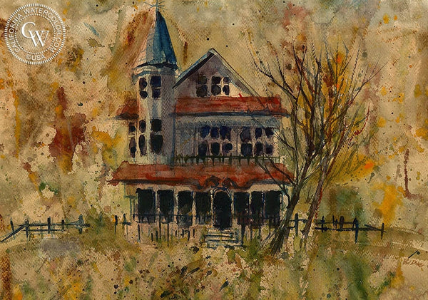 Victorian House, California art by Phil Dike. HD giclee art prints for sale at CaliforniaWatercolor.com - original California paintings, & premium giclee prints for sale