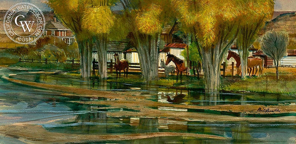 Arizona Territorial, California art by Phil Paradise. HD giclee art prints for sale at CaliforniaWatercolor.com - original California paintings, & premium giclee prints for sale