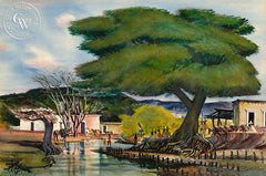 Arroyo La Aduana, California art by Phil Paradise. HD giclee art prints for sale at CaliforniaWatercolor.com - original California paintings, & premium giclee prints for sale