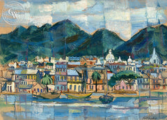 Cap Haitian, California art by Phil Paradise. HD giclee art prints for sale at CaliforniaWatercolor.com - original California paintings, & premium giclee prints for sale