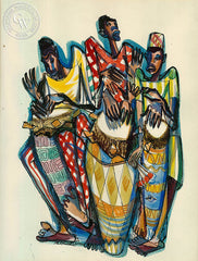Drum Boogie, 1946, California art by Phil Paradise. HD giclee art prints for sale at CaliforniaWatercolor.com - original California paintings, & premium giclee prints for sale