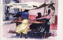 Phil Paradise Sketches, a California art book, CaliforniaWatercolor.com