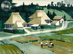Rice Planting, California art by Ralph Hulett. HD giclee art prints for sale at CaliforniaWatercolor.com - original California paintings, & premium giclee prints for sale