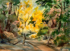 Autumn Trees, California art by Ralph Baker. HD giclee art prints for sale at CaliforniaWatercolor.com - original California paintings, & premium giclee prints for sale
