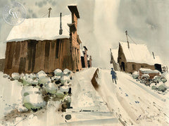 Bodie, 1967, California watercolor art by Ralph Hulett. HD giclee art prints for sale at CaliforniaWatercolor.com - original California paintings, & premium giclee prints for sale
