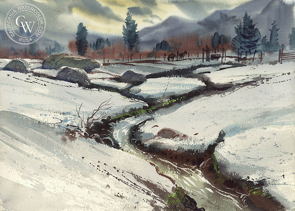 Mammoth Valley, California art by Ralph Hulett. HD giclee art prints for sale at CaliforniaWatercolor.com - original California paintings, & premium giclee prints for sale