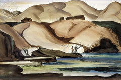 California Coast, 1936, California art by Rex Brandt. HD giclee art prints for sale at CaliforniaWatercolor.com - original California paintings, & premium giclee prints for sale