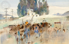 On the Way to La Cresta, 1981, California art by Rex Brandt. HD giclee art prints for sale at CaliforniaWatercolor.com - original California paintings, & premium giclee prints for sale