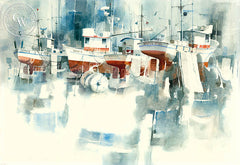 North Star with Friends, California watercolor art by Ritchie A. Benson. HD giclee art prints for sale at CaliforniaWatercolor.com - original California paintings, & premium giclee prints for sale