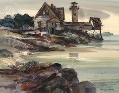 Hendricks Head III, California art by Robert E. Wood. HD giclee art prints for sale at CaliforniaWatercolor.com - original California paintings, & premium giclee prints for sale