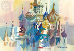 Kremlin, California art by Robert E. Wood. HD giclee art prints for sale at CaliforniaWatercolor.com - original California paintings, & premium giclee prints for sale