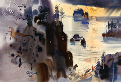 Northwest Mood, 1964, California art by Robert E. Wood. HD giclee art prints for sale at CaliforniaWatercolor.com - original California paintings, & premium giclee prints for sale