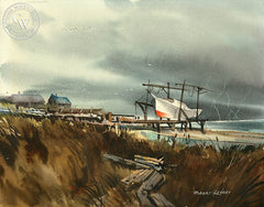 Approaching Storm, California art by Robert Landry. HD giclee art prints for sale at CaliforniaWatercolor.com - original California paintings, & premium giclee prints for sale