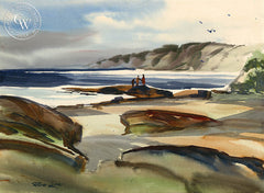 Near La Jolla, CA, California art by Robert Landry. HD giclee art prints for sale at CaliforniaWatercolor.com - original California paintings, & premium giclee prints for sale