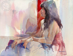 Baltimore Model, California art by Robert E. Wood. HD giclee art prints for sale at CaliforniaWatercolor.com - original California paintings, & premium giclee prints for sale