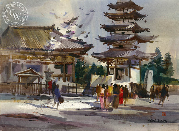 Cultural Architecture, California art by Robert E. Wood. HD giclee art prints for sale at CaliforniaWatercolor.com - original California paintings, & premium giclee prints for sale