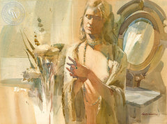 Pensive, California art by Robert E. Wood. HD giclee art prints for sale at CaliforniaWatercolor.com - original California paintings, & premium giclee prints for sale