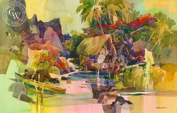 Tropical Light, California art by Robert E. Wood. HD giclee art prints for sale at CaliforniaWatercolor.com - original California paintings, & premium giclee prints for sale