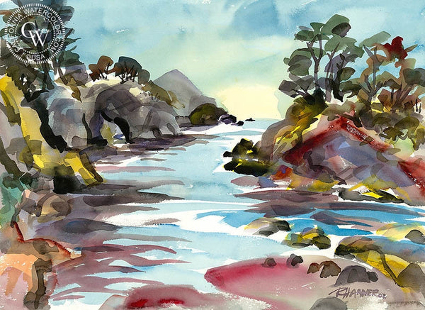 Buckhorn Cove 2, California art by Ron Hanner. HD giclee art prints for sale at CaliforniaWatercolor.com - original California paintings, & premium giclee prints for sale