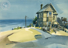 Sea Captains House, Mendocino, California art by Ron Hanner. HD giclee art prints for sale at CaliforniaWatercolor.com - original California paintings, & premium giclee prints for sale
