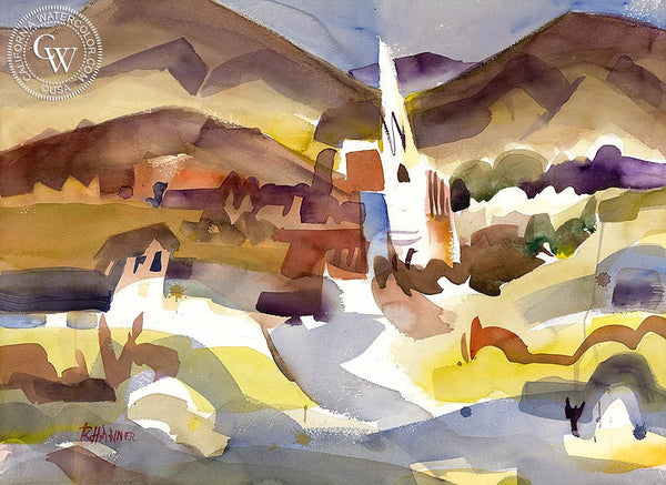 Ron Hanner - Virginia City - California art - fine art print for sale, giclee watercolor print - Californiawatercolor.com
