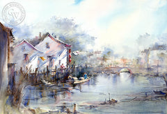 Another Nice Day, California art by Shuang Li. HD giclee art prints for sale at CaliforniaWatercolor.com - original California paintings, & premium giclee prints for sale