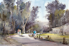 At Park, California art by Shuang Li. HD giclee art prints for sale at CaliforniaWatercolor.com - original California paintings, & premium giclee prints for sale
