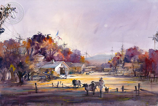 Homecoming III, California art by Shuang Li. HD giclee art prints for sale at CaliforniaWatercolor.com - original California paintings, & premium giclee prints for sale