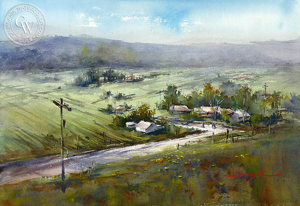 Spring at San Pasqual, California art by Shuang Li. HD giclee art prints for sale at CaliforniaWatercolor.com - original California paintings, & premium giclee prints for sale