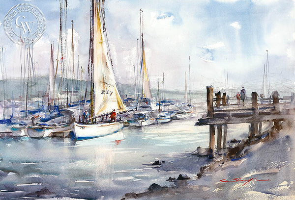 Waiting for Wind, California art by Shuang Li. HD giclee art prints for sale at CaliforniaWatercolor.com - original California paintings, & premium giclee prints for sale