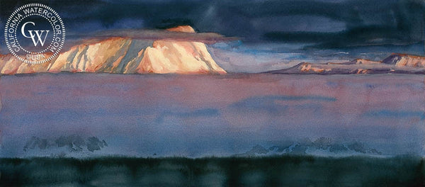 Antarctica, California art by Sid Bingham. HD giclee art prints for sale at CaliforniaWatercolor.com - original California paintings, & premium giclee prints for sale