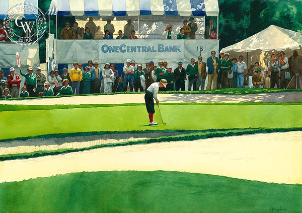 LPGA, Oakmont Country Club, Glendale, CA, California art by Sid Bingham. HD giclee art prints for sale at CaliforniaWatercolor.com - original California paintings, & premium giclee prints for sale