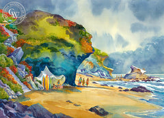 Laguna Beach, CA, California watercolor art by Sid Bingham. HD giclee art prints for sale at CaliforniaWatercolor.com - original California paintings, & premium giclee prints for sale