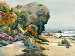 Laguna Steps, California art by Sid Bingham. HD giclee art prints for sale at CaliforniaWatercolor.com - original California paintings, & premium giclee prints for sale