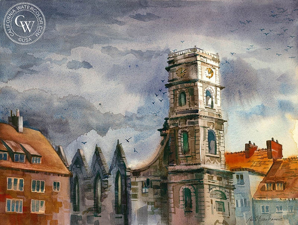 The Loud Peace, Hannover, Germany, California art by Sid Bingham. HD giclee art prints for sale at CaliforniaWatercolor.com - original California paintings, & premium giclee prints for sale
