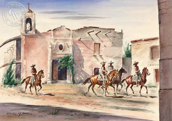 Vaqueros, California art by Stanley Long. HD giclee art prints for sale at CaliforniaWatercolor.com - original California paintings, & premium giclee prints for sale