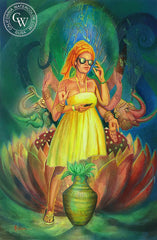 Imagining Bhakti, California watercolor art by Stephanie Goldman. HD giclee art prints for sale at CaliforniaWatercolor.com - original California paintings, & premium giclee prints for sale