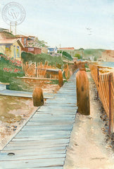 Crystal Cove, Looking South, California watercolor art by Steve Santmyer. HD giclee art prints for sale at CaliforniaWatercolor.com - original California paintings, & premium giclee prints for sale