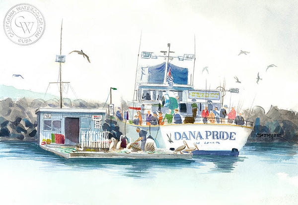Dana Pride, California art by Steve Santmyer. HD giclee art prints for sale at CaliforniaWatercolor.com - original California paintings, & premium giclee prints for sale