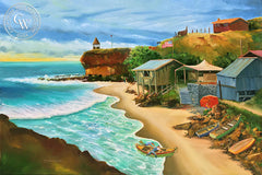 Fisherman's Cove, Laguna Beach, by Steve Santmyer, an original California oil painting for sale, original California art for sale - CaliforniaWatercolor.com