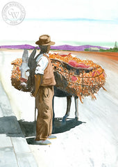 Spain, California art by Steve Santmyer. HD giclee art prints for sale at CaliforniaWatercolor.com - original California paintings, & premium giclee prints for sale