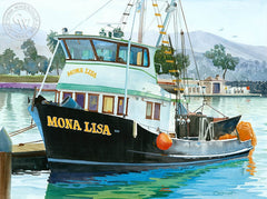 The Mona Lisa, Dana Point, California art by Steve Santmyer. HD giclee art prints for sale at CaliforniaWatercolor.com - original California paintings, & premium giclee prints for sale
