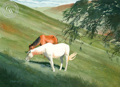 The White Horse, California watercolor art by Steve Santmyer. HD giclee art prints for sale at CaliforniaWatercolor.com - original California paintings, & premium giclee prints for sale