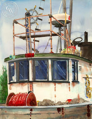 Wheelhouse, California art by Steve Santmyer. HD giclee art prints for sale at CaliforniaWatercolor.com - original California paintings, & premium giclee prints for sale