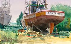 Westpoint, California art by Steve Santmyer. HD giclee art prints for sale at CaliforniaWatercolor.com - original California paintings, & premium giclee prints for sale