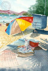 Zihuatanejo, Guerrero, Mexico, California art by Steve Santmyer. HD giclee art prints for sale at CaliforniaWatercolor.com - original California paintings, & premium giclee prints for sale