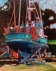 Steve Santmyer - Bonnie C., an original California oil painting for sale, original California art for sale - CaliforniaWatercolor.com