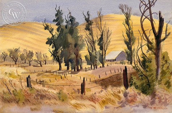 Central California, California art by Tom Craig. HD giclee art prints for sale at CaliforniaWatercolor.com - original California paintings, & premium giclee prints for sale
