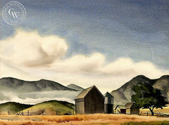 The Farm, California art by Tom Craig. HD giclee art prints for sale at CaliforniaWatercolor.com - original California paintings, & premium giclee prints for sale